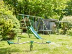 Play equipment to keep smaller guests happy