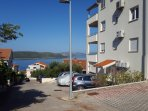 Street view of the apartment building with that wonderful view of the sea