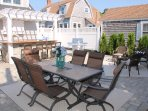 View of private back patio- fence installed -table - chairs- Gas grill- 5 Sea Breeze Avenue Harwich Port Cape Cod - New...