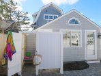 Outdoor shower -Enclosed with hot and cold water! (Garage area to the right has a changing area for you  )-5 Sea Breeze...