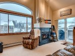 Gorgeous views with gas fireplace.