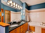 Double vanity for getting ready for your day.