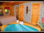 king bed \ bathroom\ closet \ washer & dryer