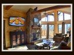 Living room on main floor / Queen Sleeper Sofa