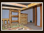 twin bunk beds on lower level