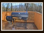 Charcoal grill on main deck