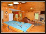 pool table & living room / main level