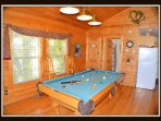 pool table / main level