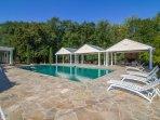 Large pool and Lanai