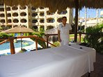 By now you're ready for a relaxing poolside massage.