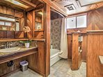 A gorgeous bathroom accompanies the master bedrooms.