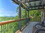 Take in the views with a breath of fresh air out on the back deck.