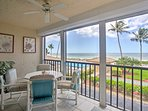 Look forward to a refreshing beach getaway when you stay at this oceanfront 1-bedroom, 1-bathroom vacation rental condo...