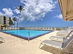 The condo is situated in the Seascapes community, offering access to an oceanfront pool.