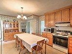 The home features a fully equipped kitchen, where you can prepare your favorite recipes.