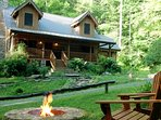 Wave goodbye to stress and runaway to this 3-bedroom, 2-bathroom vacation rental cabin in Black Mountain for a woodland...