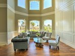 Large windows open the living space and give the home a bright and airy feel.