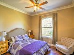 The home offers 5 bedrooms for guests to sleep in.