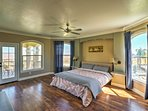 This master suite  contains a king-sized bed that will ensure many peaceful slumbers.