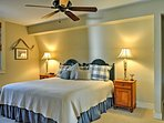 Drift off to sleep in the comfortable bedroom, featuring a queen-sized bed and an en suite bathroom.
