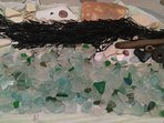 An example of one day's Sea Glass hunting at one of the lovely beaches approx. 20 miles from cottage