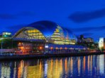 Take in the sites of Newcastle Quayside, Book and see a Concert at The Sage, Gateshead, wine & dine.