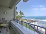 Take in stunning ocean views from this beautiful vacation rental condo.