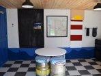 Inside the field kitchen