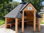The barbecue hut