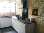 induction hob, kettle, nespresso & toaster.