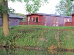 A Heron's view of Riverbank Lodge - from the opposite riverbank