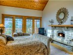Trail Boss Suite with Fireplace and Deck access.