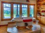 Soaker Tube in Snowshoe Suite's Bathroom