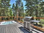 Hot tub and grill on the back deck