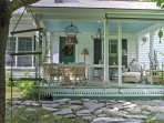 Spend quiet afternoons reveling in fresh air from the porch.