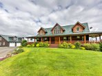 Experience a once-in-a-lifetime vacation from this stunning log home that sits 800 feet above Frazier River Valley!