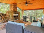 The covered patio sitting area will quickly become your favorite room in the house to spend your time.