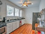Prepare family dinners in this fully equipped kitchen.