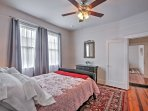 Overhead ceiling fans in each bedroom keep you cool throughout the night.