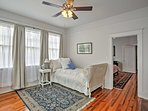 Sweet dreams await in this twin bed in the contiguous third bedroom.