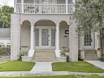 This home is situated in a quiet New Orleans neighborhood.
