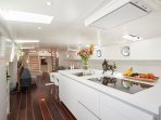 Bulthaup kitchen with Gaggenau kitchen appliances (steam oven, Induction stove,Wine climate cabinet)