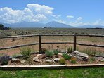 "Rock garden with High Desert greenery – Notice ""LARGEST BOULDER"""