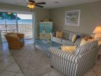 Spacious Living Area With Queen Sleeper Sofa