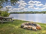 Head down to the lake and use the fire pit to roast marshmallows.