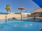 Kids are sure to love the splash pad as well!