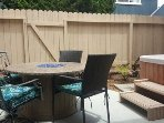 Glass firepit/dining table