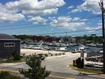 View of Falmouth Harbor from the balcony