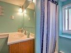 Refresh in this pristine walk-in shower.