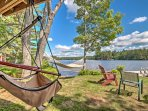 Sit back and relax on the hammocks for a leisurely afternoon activity.